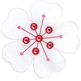 Tatty Devine Women's White Cherry Blossom Ring - Size J