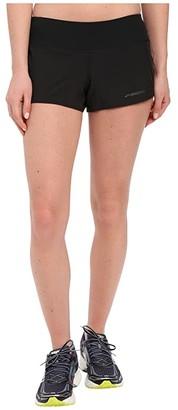 Brooks Chaser 3 Shorts (Black) Women's Shorts