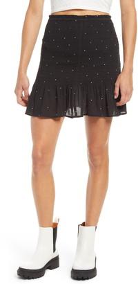 BP Smocked Miniskirt