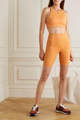 Girlfriend Collective + Net Sustain Topanga Recycled Stretch Sports Bra - Orange