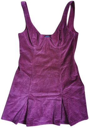 House Of Harlow Burgundy Cotton Dress for Women
