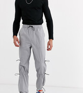Asos Design DESIGN Tall cargo trousers with ruched leg details in grey