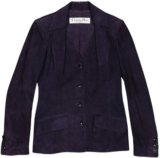 Christian Dior Purple Suede Jackets