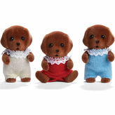 International Playthings Calico Critters Chocolate Labrador Triplets