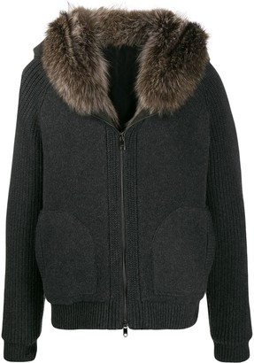 Dolce & Gabbana fur collar zip-up jacket