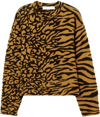Proenza Schouler White Label Animal Jacquard Knit Pullover