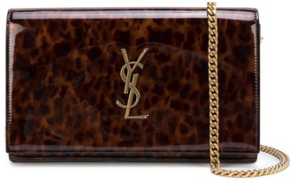 Saint Laurent Kate tortoiseshell-effect clutch