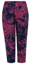 Yours Clothing Womens Tropical Palm Print Jersey Harem Trousers With Pockets Plus Size 16 To 3