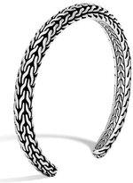 John Hardy Men's Classic Chain Sterling Silver Slim Cuff, Silver