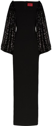 SOLACE London Gilda sequin-embellished maxi dress