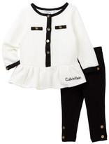 Calvin Klein Quilted Tunic & Legging Set (Baby Girls)