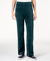 Karen Scott Velour Pull-On Pants, Only at Macy's