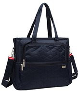 Baby Lovess Waterproof Nylon Baby Diaper Tote Bag with Changing Mat for Mummy and Dad ,Navy Blue