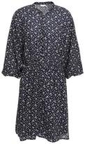 Joie Galani Floral-print Cotton-blend Voile Mini Dress