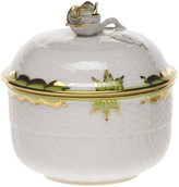 Herend Princess Victoria Green Covered Sugar Dish with Rose