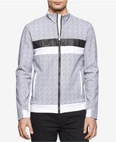 Calvin Klein Men's Slim-Fit Pattern Blocked Zip-Front Jacket