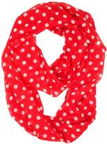 Tapp Collections Tapp C. Vertical Chevron Sheer Infinity Scarf - Green/Red/White
