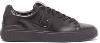 Balmain B-court Logo-embossed Leather Trainers - Black
