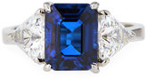 FANTASIA Emerald-Cut Blue Cubic Zirconia Ring