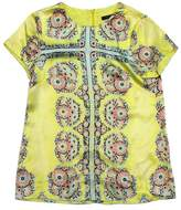 Nanette Lepore Yellow Floral Short Sleeve Blouse