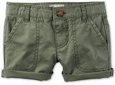 Carter's Olive Cotton Shorts, Toddler Girls (2T-4T)