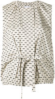 Christian Wijnants sleeveless Little Dots top - women - Ramie/Spandex/Elastane/Viscose - 36