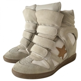 Isabel Marant Beige Leather Trainers