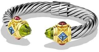 David Yurman Renaissance Bracelet with Peridot, Iolite & Gold