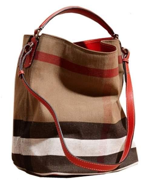 Burberry Alfa lady's Canvas Handbag