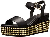 Delman Women's D-Angie-B Studded Wedge Sandal