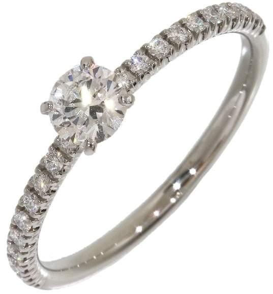 Cartier PT950 Platinum 0.25ct Diamonds Ring Size 4.75
