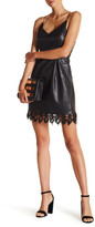 Romeo & Juliet Couture Sleeveless Faux Leather and Lace Detail Dress