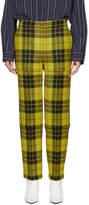 Balenciaga Yellow Zipped Mcleod Tartan Trousers