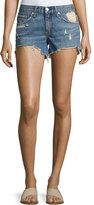 Rag & Bone Winnie Distressed Cutoff Shorts, Indigo