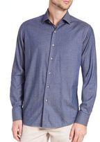 Saks Fifth Avenue Diamond-Print Cotton Shirt