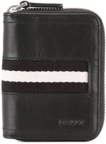 Bally striped trim zipped wallet - men - Calf Leather - One Size