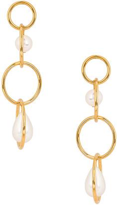 Lele Sadoughi Teardrop Linear Earrings in Ivory   FWRD