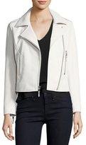 Parker Easton Leather Moto Jacket, White