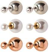 Aldo NASSI 3 PACK Earrings pearl/rose goldcoloured