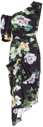 Preen by Thornton Bregazzi Willabelle floral one-shoulder midi dress