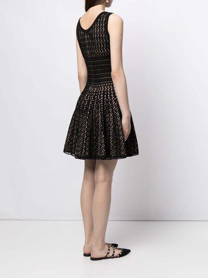 Thumbnail for your product : Alaïa Pre-Owned Woven Flared Dress