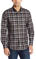 Perry Ellis Men's Heather Plaid Pattern Shirt