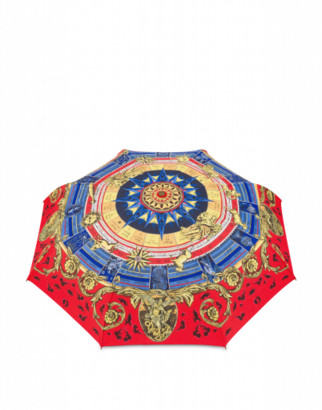 Moschino Roman Scarf Openclose Umbrella Woman Multicoloured Size Single Size