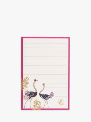 Sara Miller Ostriches Magnetic Jotter Pad