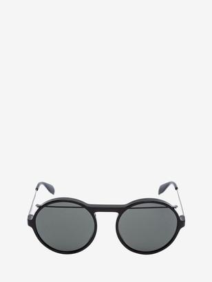 Alexander McQueen Piercing Round Acetate Sunglasses