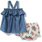 Old Navy 2-Piece Chambray Top and Printed Bloomers Set for Baby