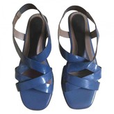 Marni Blue Patent leather Sandals