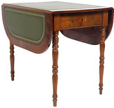 One Kings Lane Vintage 19th-C. Louis Philippe-Style Side Table - Blink Home Vintique - green/natural