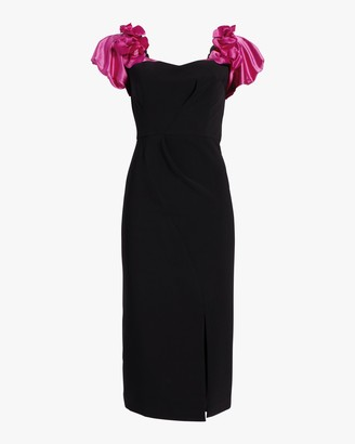 Marchesa Notte Off-Shoulder Cocktail Dress