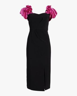 Marchesa Notte Off-Shoulder Cocktail Dress